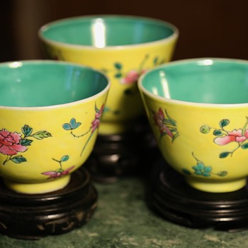 Three Republic Period Teacups from China - Pottery