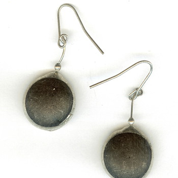 Vintage Dangle Earrings -- Mystery Stones