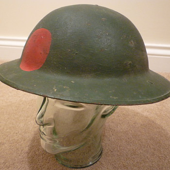 British WWI steel helmet