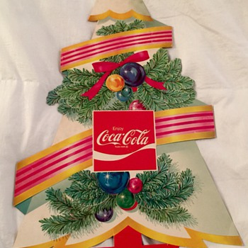 Antique Coca-Cola Die Cut Christmas Tree