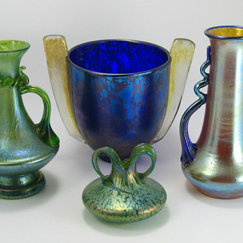 Loetz grouping - Art Glass