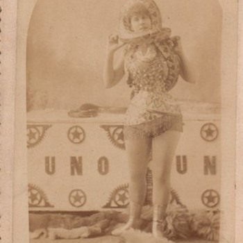 Cabinet Card by Frank Wendt Sideshow Performer with Snake