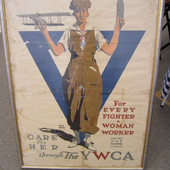 Rosie the Riveter YWCA Poster - WW1?