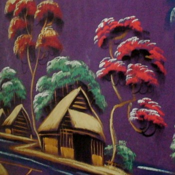 Vietnamese Signed Silk Painting 1960s/1970