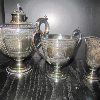 English Silver plate tea service