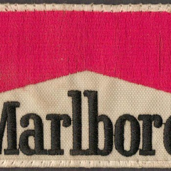"2001 - ""Marlboro"" Embroidered Patch - Tobacciana"