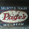 Page's Ice Cream Selected Dealer Sign