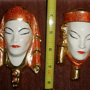 Mystery Siamese (Balinese?) Ceramic Man & Woman by Babs...