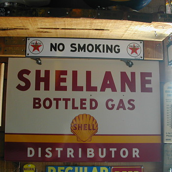 SHELLANE PORCELAIN SIGN