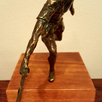 Curtis Jere Bronze Tennis Player Sculpture - Visual Art