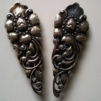 Art Deco Era Djokja Silver Dress Clips Thrift Shop Find 10 Euro ($10.70)