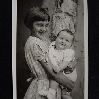 """1920's PHOTO POSTCARD """"WORLD'S CHUBBIEST BABY"""" ? LOVE THIS PHOTO. BIG GIRL IS GORGEOUS!!"""