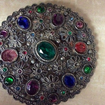 Bohemian brooch - Costume Jewelry