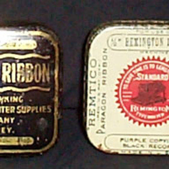 Typewriter Ribbon Tins  - Advertising