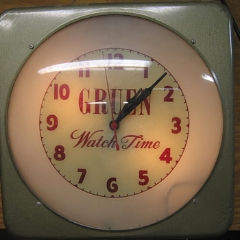 E-Irl's Gruen Clock from ARMCO Steel Mill - Clocks