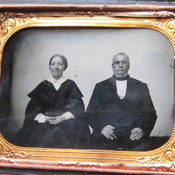 Older Couple's Ambrotype - Photographs