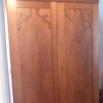 American Walnut Wardrobe c. 1860 - Furniture