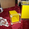 Yellow Acrylic Retro Canisters