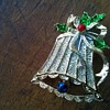 Vintage 1960s Gerry's Christmas Bell Holly Brooch Thrift Shop Find 95 Cents