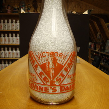 Lavine's Dairy Potsdam New York War Slogan..... - Bottles