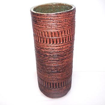 Western Germany Pottery,Spara, Cylinder Vase, 1960