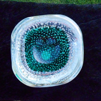 Murano Dish with Controlled Bubbles - Art Glass