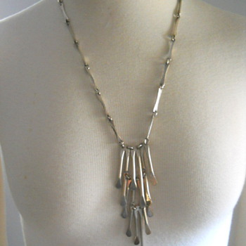 Mexican Sterling Modernist Eagle 2 Necklace