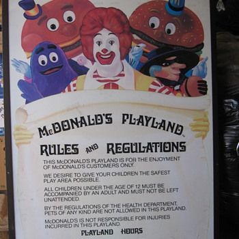 McDonald's Playland Rules - Signs