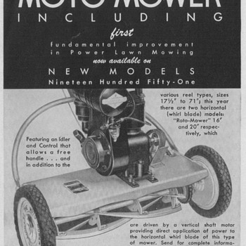 1950 Moto-Mower Advertisements