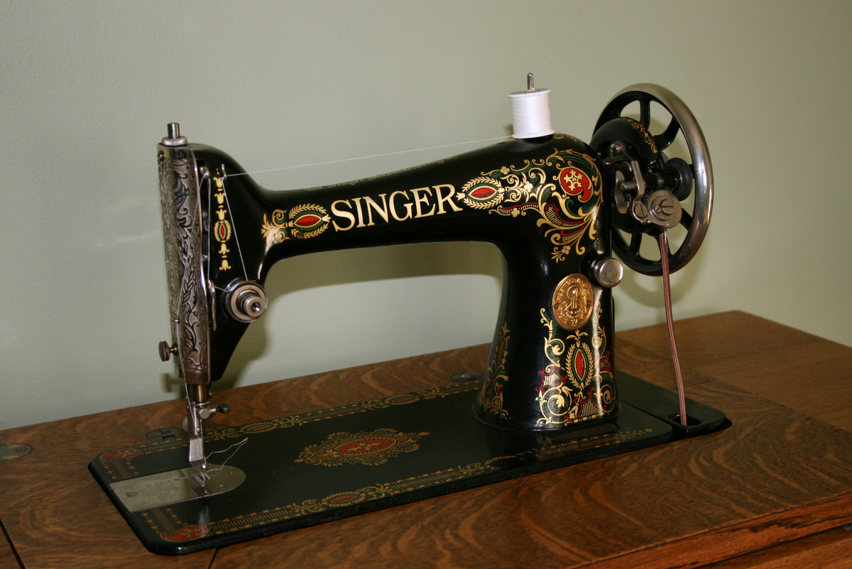 singer redeye treadle sewing machine