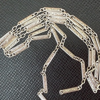 Engraved Victorian Chain - Sterling Silver