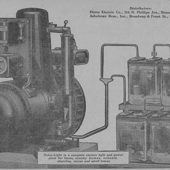 1919 Delco-Light Generator Advertisement - Advertising