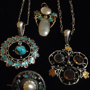 Arts & Crafts pendants by Jessie M King - Arts and Crafts