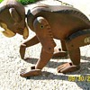 Old Toy Wood Monkey Stamped Zoo Germany