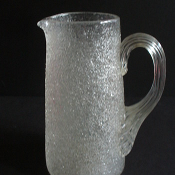 LOETZ ICE BLADDER PITCHER, 3216 variant - Art Glass