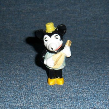 1930's Minnie Mouse Bisque Figurine - Animals