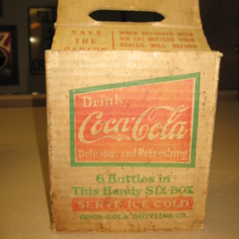 1924 Coca-Cola Six Pack Box