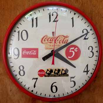 Antique Coca Cola Wall Clock