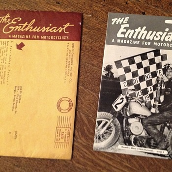 Vintage The Enthusiast A Magazine for Motorcyclists - Motorcycles