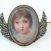 Mourning Portrait Miniature of Young Girl