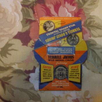 1930s terrell and dolly jacobs wild animal trainers matches