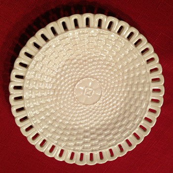 Vintage bone chine basket weave pattern. not sure of marking? - China and Dinnerware