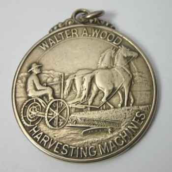 1904 Walter A Wood Harvesting Machines St Louis Worlds Fair Watch Fob