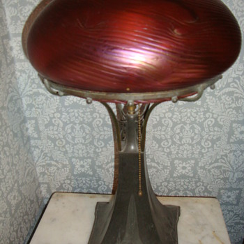 irridized dome shade - Art Glass