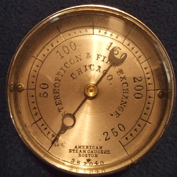 Interesting Steam Gauge with original box - Railroadiana