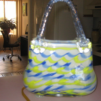 Handblown Murano glass purse nite light