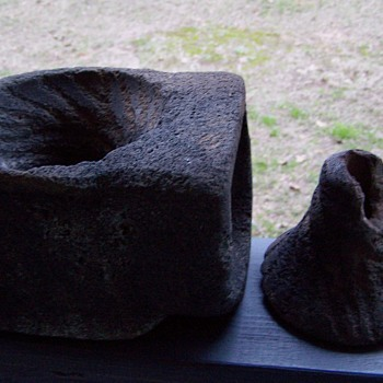 mortar pestle stone rock
