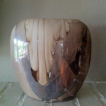 Nielson's Ceramic Platinum Overlay - Art Pottery