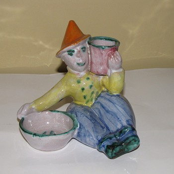 German Art deco pottery group