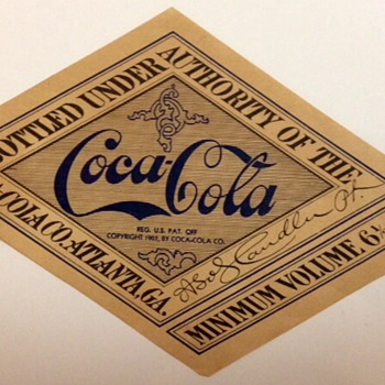 1915-1917 Coca Cola Label and 1935 Pearl Pocket Knife - Coca-Cola